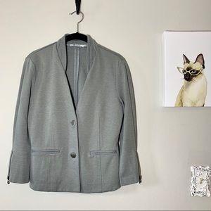 T Alexander Wang Gray Two Button Jersey Blazer